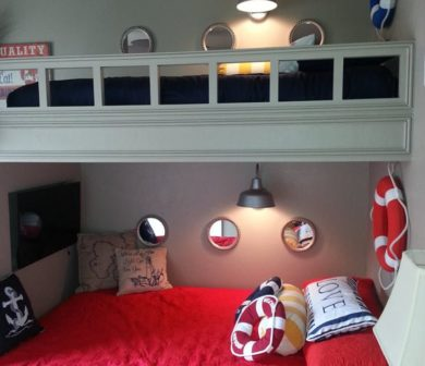 Add sconce lights in a bedroom